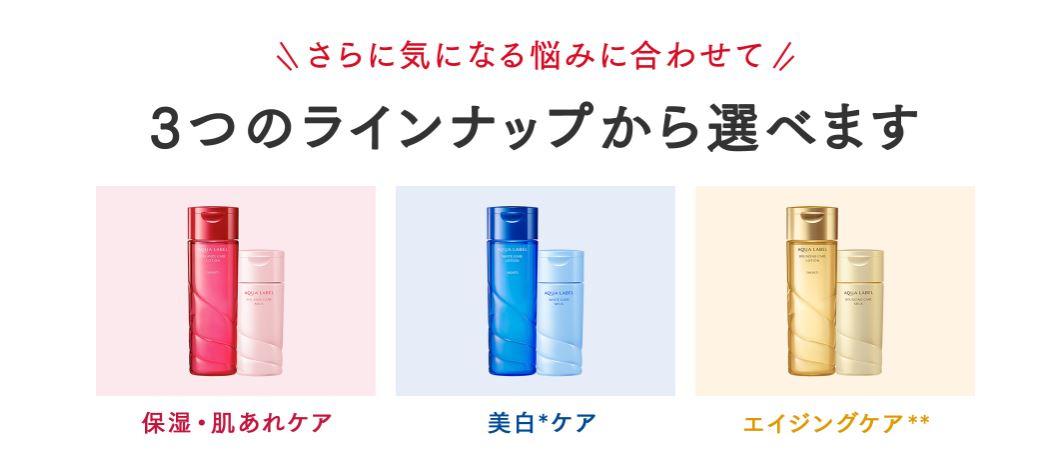 資生堂アクアレーベル高機能化粧水サンプル内容
